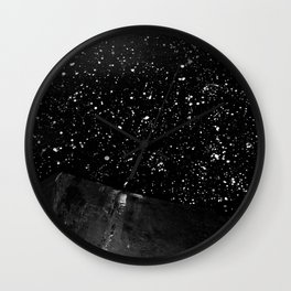 Moon Rising in the dark Black and White Wall Clock