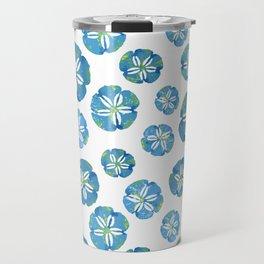 Blue Sand Dollars Travel Mug