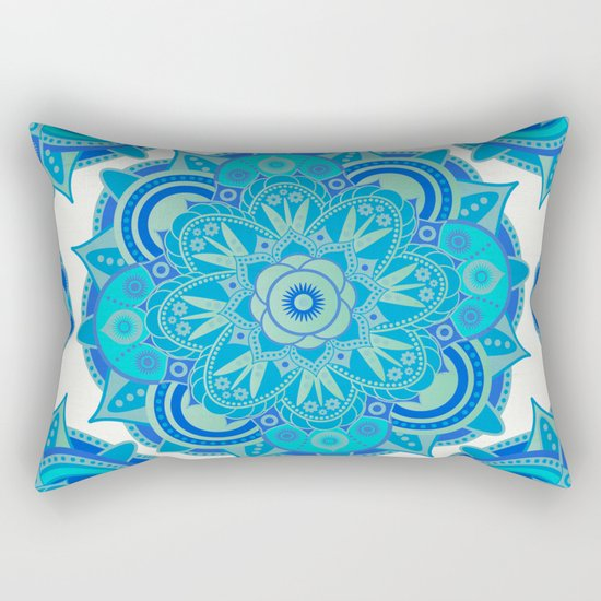 Throat Chakra Mandala Rectangular Pillow