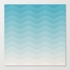 Deeb blue sea waves Canvas Print