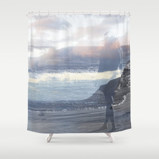 Into the Wave Shower Curtain