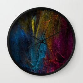 Colorful Brush Strokes Painting Wall Clock