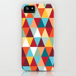 Geometric Color #abstract #bright #triangles iPhone Case