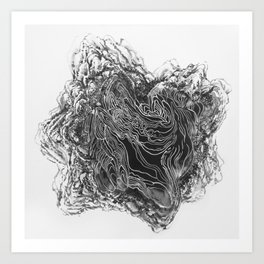 Topography of the Mind X Art Print