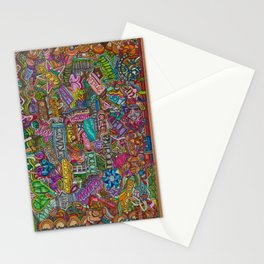 Dog 2 in many languages Stationery Cards
