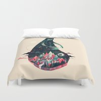 kpop Duvet Covers featuring Night Time. by Karl James Mountford