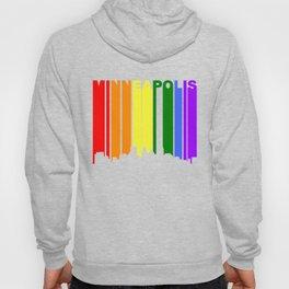 Minneapolis Minnesota Gay Pride Rainbow Skyline Hoody