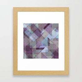 PLUM TURQUOISE ABSTRACT GEOMETRIC Framed Art Print