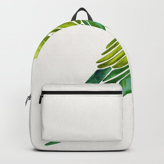 Perched Parrot – Green Palette Backpack