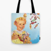candy Tote Bags featuring candy by •ntpl•