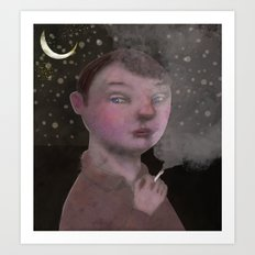 To Young to Smoke Art Print