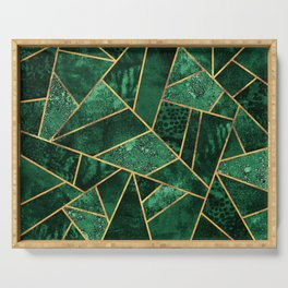 Deep Emerald Serving Tray