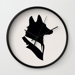 Monsieur Renard / Mr Fox - Animal Silhouette Wall Clock