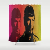 spock Shower Curtains featuring Spock by SVA🌺Silvia Van