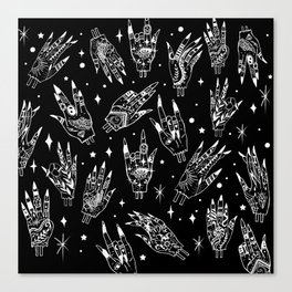 Floating Witchy Goth Hands Canvas Print