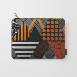 Industrial Geometry - Metallic, geometric, bronze, silver and gold, textured, patterned artwork Carry-All Pouch