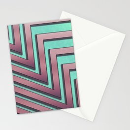 80's Miami vice pattern Stationery Cards