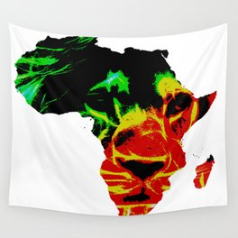 Lion Heart Africa Wall Tapestry