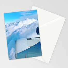 Lufthansa Flight from Munich to LAX, November 2017 Stationery Cards