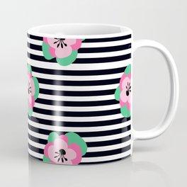 poppies stripes Coffee Mug