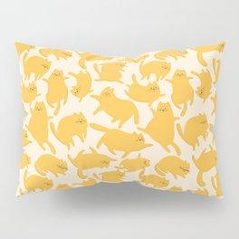 Yellow Cats Pattern Pillow Sham