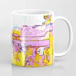Antique Girly Tractor Coffee Mug