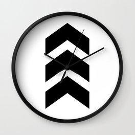 Classic Chevron Arrow Wall Clock
