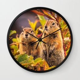 Autumn Picnic Wall Clock