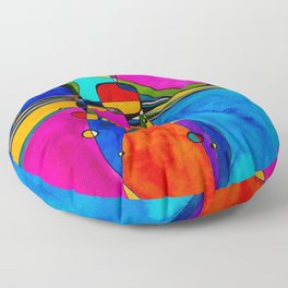 Magical Thinking No. 8 by Kathy Morton Stanion Floor Pillow