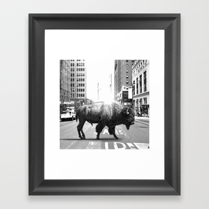 STREET WALKER Framed Art Print