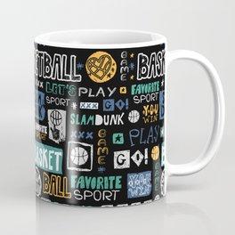 Basketball sketch. Pattern. Coffee Mug