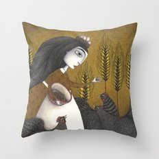 Ira's Hens Throw Pillow