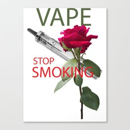 Be vaper, stop smoking Canvas Print