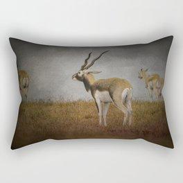 Storm Spotters - Blackbuck Antelope - Wildlife  Rectangular Pillow