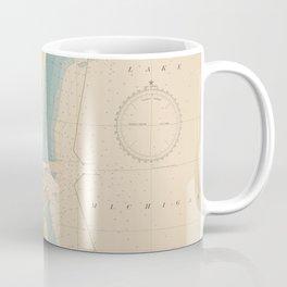 Vintage Map of Milwaukee WI (1947) Coffee Mug