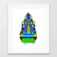 wizard Framed Art Prints featuring Wizard by Samuel Bell