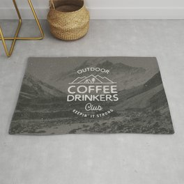 Outdoor Coffee Drinkers Club Rug