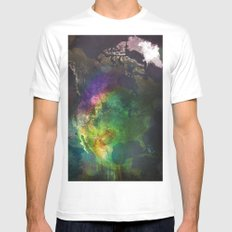 North America White MEDIUM Mens Fitted Tee