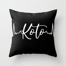 Koto heartbeat instrument string instrument Throw Pillow