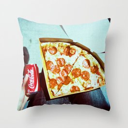 Pizza and a Coke Throw Pillow