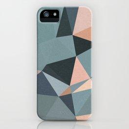 Moody urban Geometry - blue grey peach iPhone Case