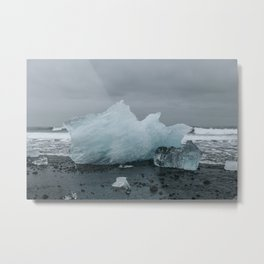 Diamond Beach, Merritt Island, Iceland Metal Print