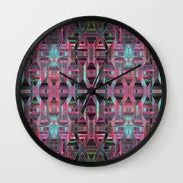 Geometric Wood Pattern G404 Wall Clock