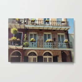 NOLA Balcony Metal Print
