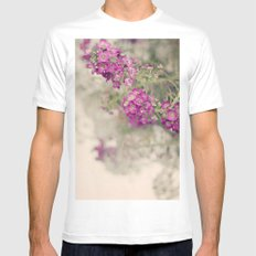Summer Cottage  White MEDIUM Mens Fitted Tee