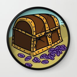 Loot: Treasure Chest Wall Clock