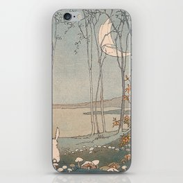 Rabbit in the forest iPhone Skin