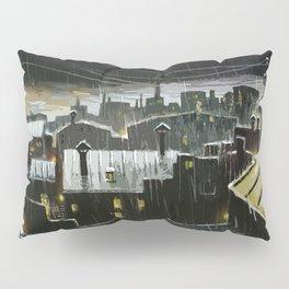 Rainy night in the factories Pillow Sham