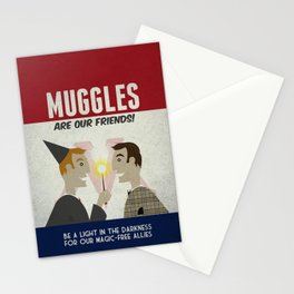 Muggles Are Our Friends (HP Propaganda Series) Stationery Cards