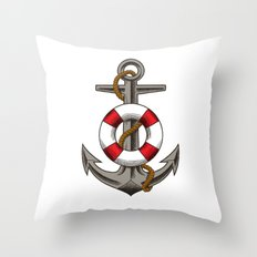 BOAT UNKER Throw Pillow
